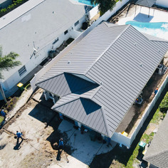 Charcoal Grey Standing Seam Roof