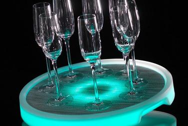 Round Illuminated LED Serving Tray