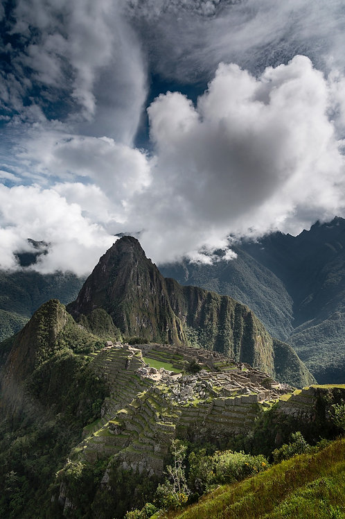 Clearing Clouds, Machu Picchu, Peru - Color Version