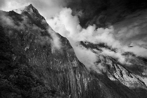 Clouds and Mountains around Machu Picchu, Peru