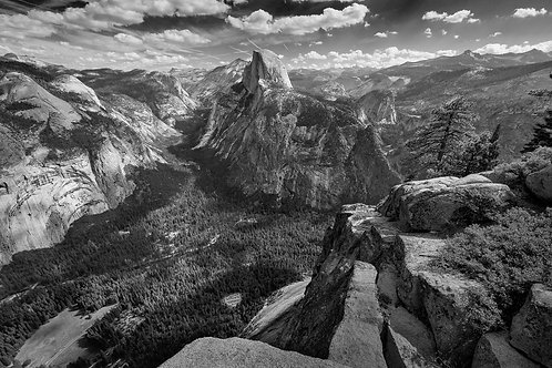 View from Glacier Point, Yosemite National Park, California