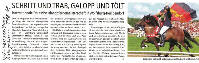 """Volkswagen Werkszeitung """"Autogramm"""" vom 07.08.2004"""