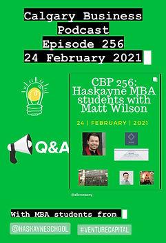 CBP 256_Haskayne MBA & Matt Wilson_24 Fe