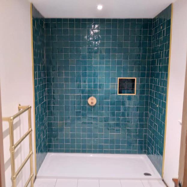 After - Blue Shower