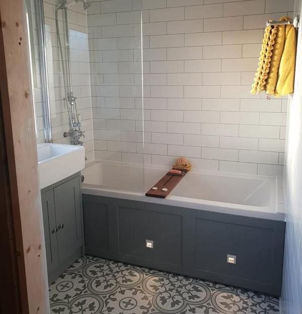 After - Grey Bathroom