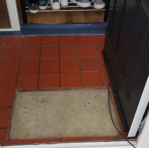 Before - Tiled Porch