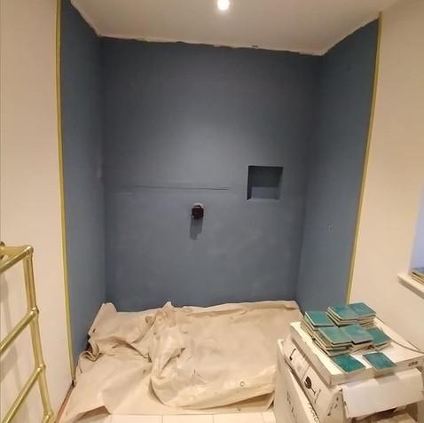 Before - Blue Shower