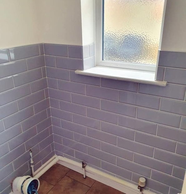 After - Purple Bathroom