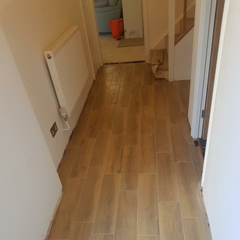 After - Wood Effect Hallway