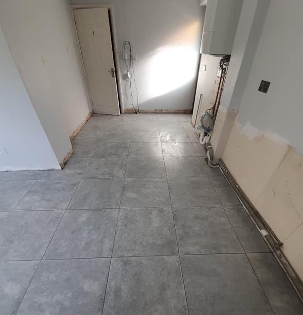 After - Utility Room Floor