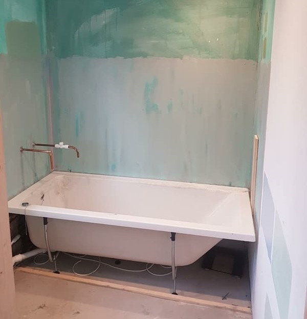 Before - Grey Bathroom