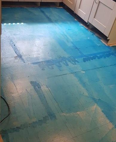 Before - Kitchen Floor