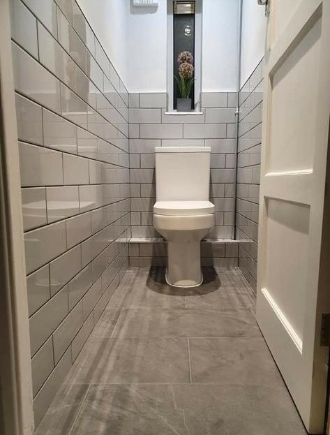After - Grey Toilet