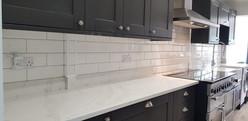 White Kitchen Splashback