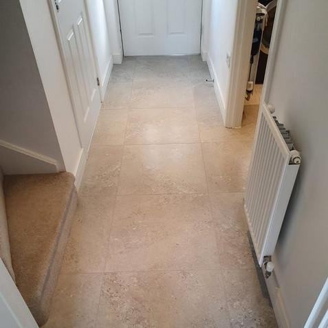 After - Tiled Hallway