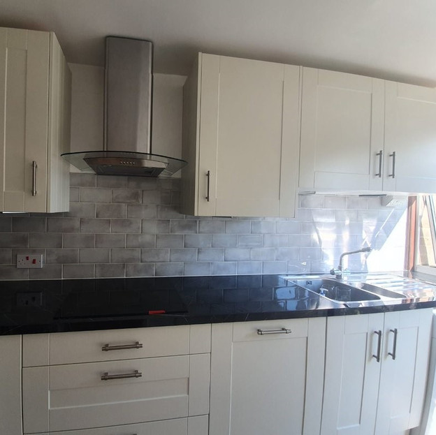 After - Grey Kitchen Splashback