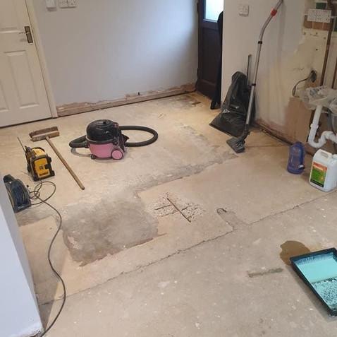 Before - Utility Room Floor