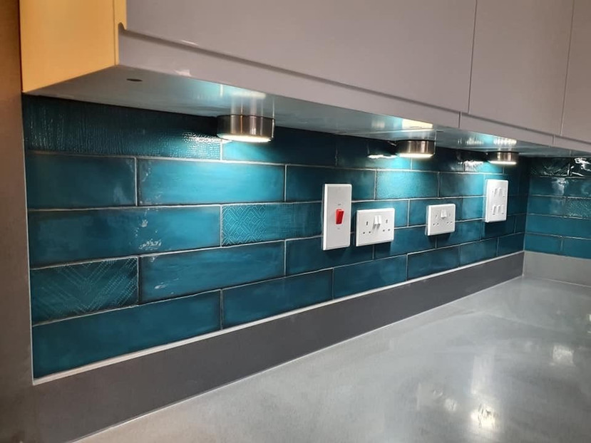 Blue Kitchen Tiling