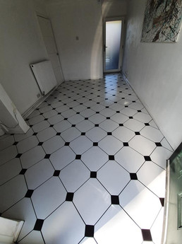 Diamond Tiles Hallway