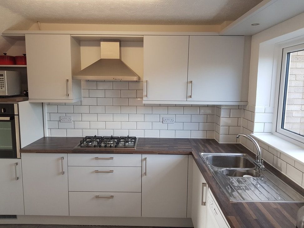 Kitchen Splashback Brick Effect