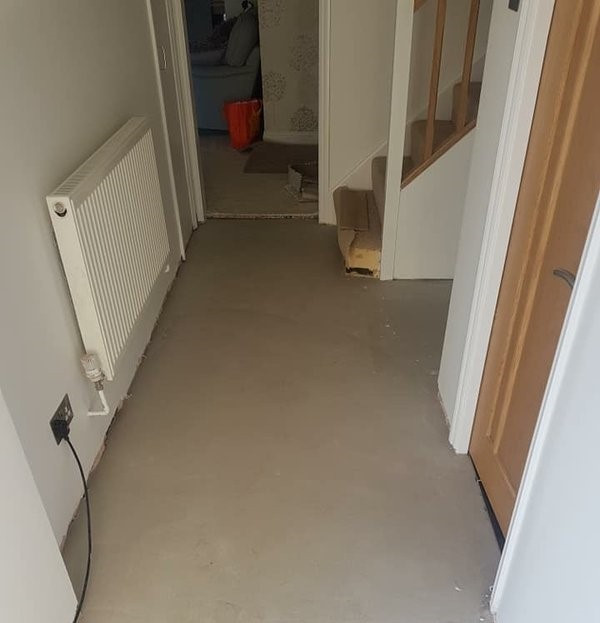 Before - Wood Effect Hallway