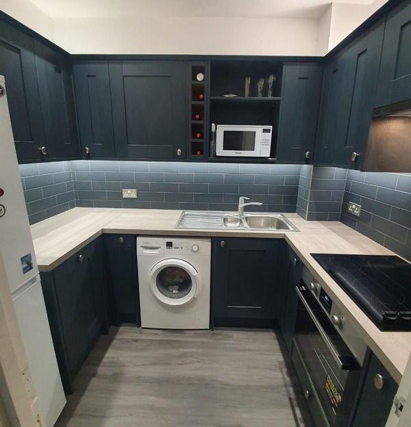 After - Dark Grey Kitchen Splashback