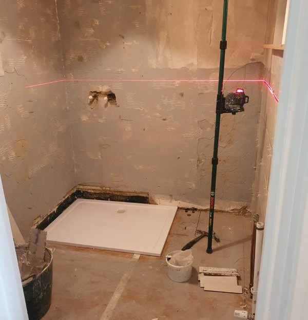 Before - Stone Effect Bathroom