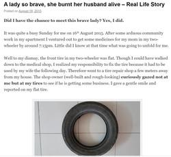 A lady so brave