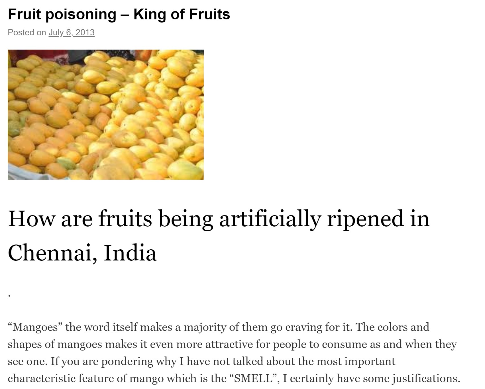 Fruit poisoning