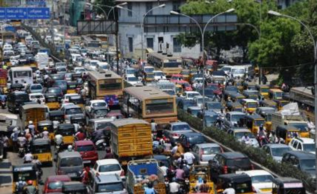 Imagine you are stuck in the middle of this traffic