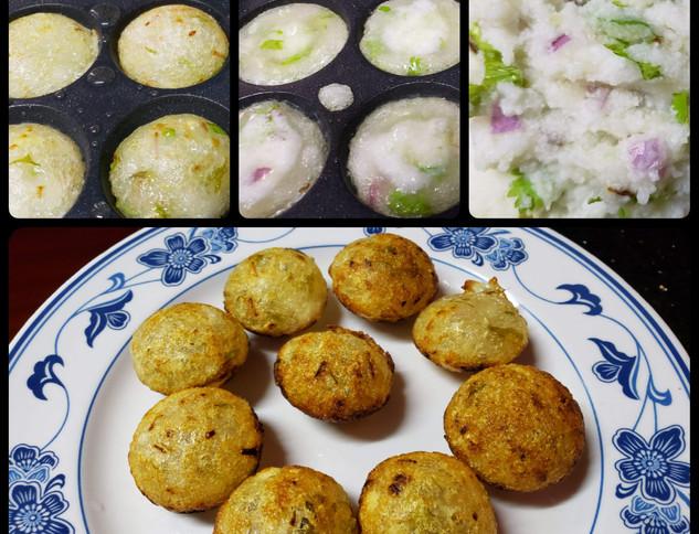 Sahudana and Potato aapam