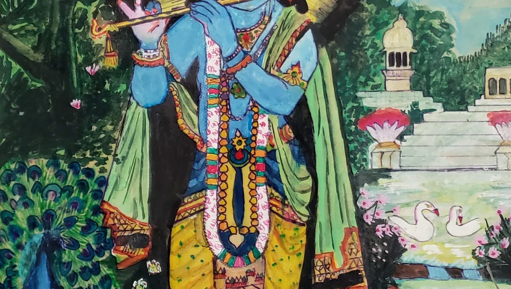 Krishna with flute