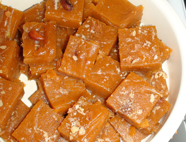 Wheat halwa which melts