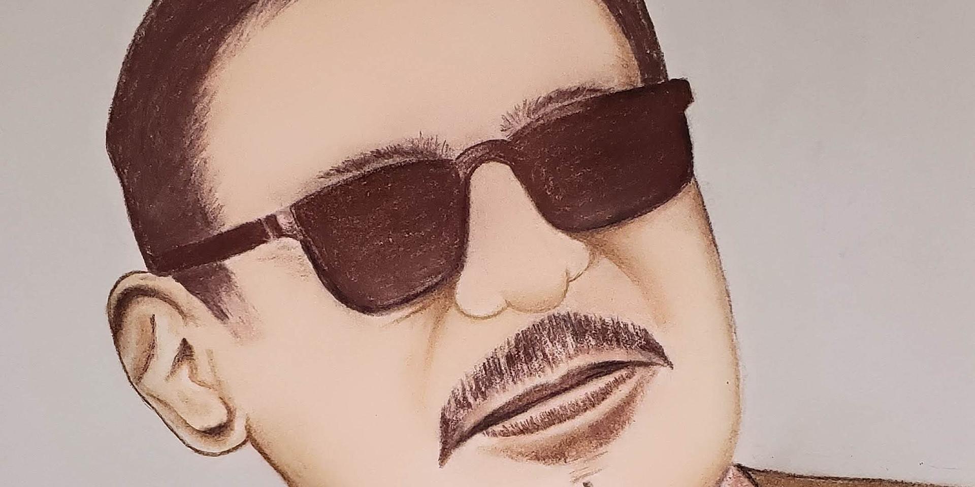 Selfie portrait in Pastel skin tone
