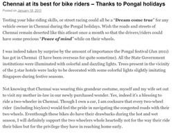 Chennai best for bike riders