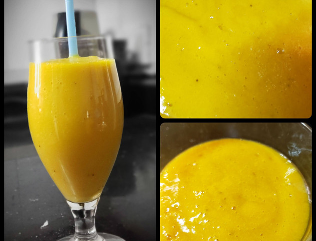 Mango and Jackfruit Smoothie with dates and grapes