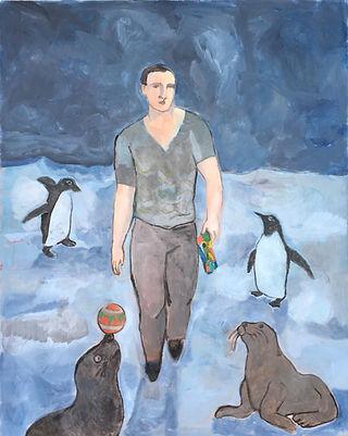 Il viandante con pinguini e foche