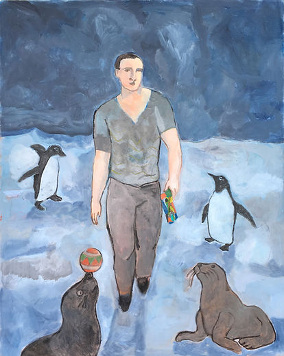 The Wayfarer with Penguins and Seals is the work of Sandro Chia, The Wayfarer with Penguins and Seals was created on 2017. Sandro Chia is an artist recommended by ZAI | Zhong Art International, pay attention to Zhong Art International, and get the latest developments of Sandro Chia.