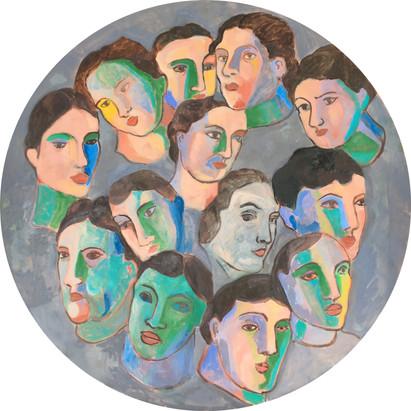 Tondo of Faces