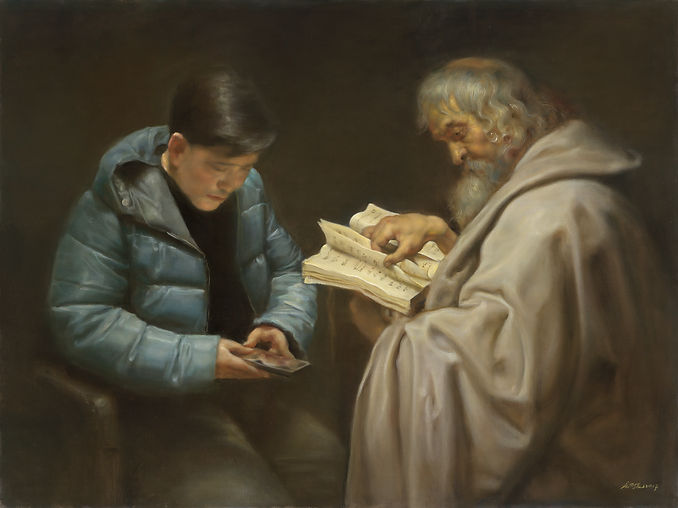 Reader is the work of Pang Maokun, Reader was created on 2017. Pang Maokun is an artist recommended by ZAI | Zhong Art International, pay attention to Zhong Art International, and get the latest developments of Pang Maokun.