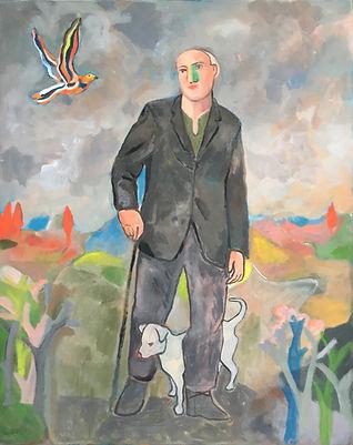 Il viandante col suo cane