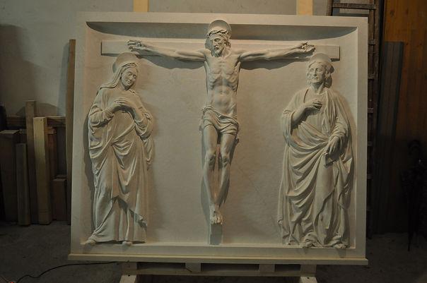 """""""Crocifissione"""", Polittico Cappella del Campus Bio-medico di Trigoria (Roma)"""