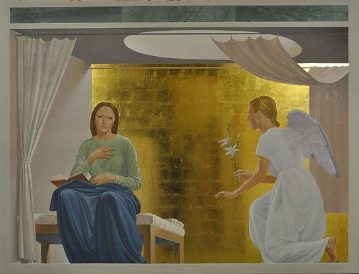 """""""Annunciazione"""", Polittico Cappella Campus Bio-medico di Trigoria (Roma)"""