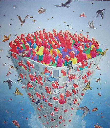 2008 is the work of Fang Lijun, 2008 was created on 2008. Fang Lijun is an artist recommended by ZAI | Zhong Art International, pay attention to Zhong Art International, and get the latest developments of Fang Lijun.