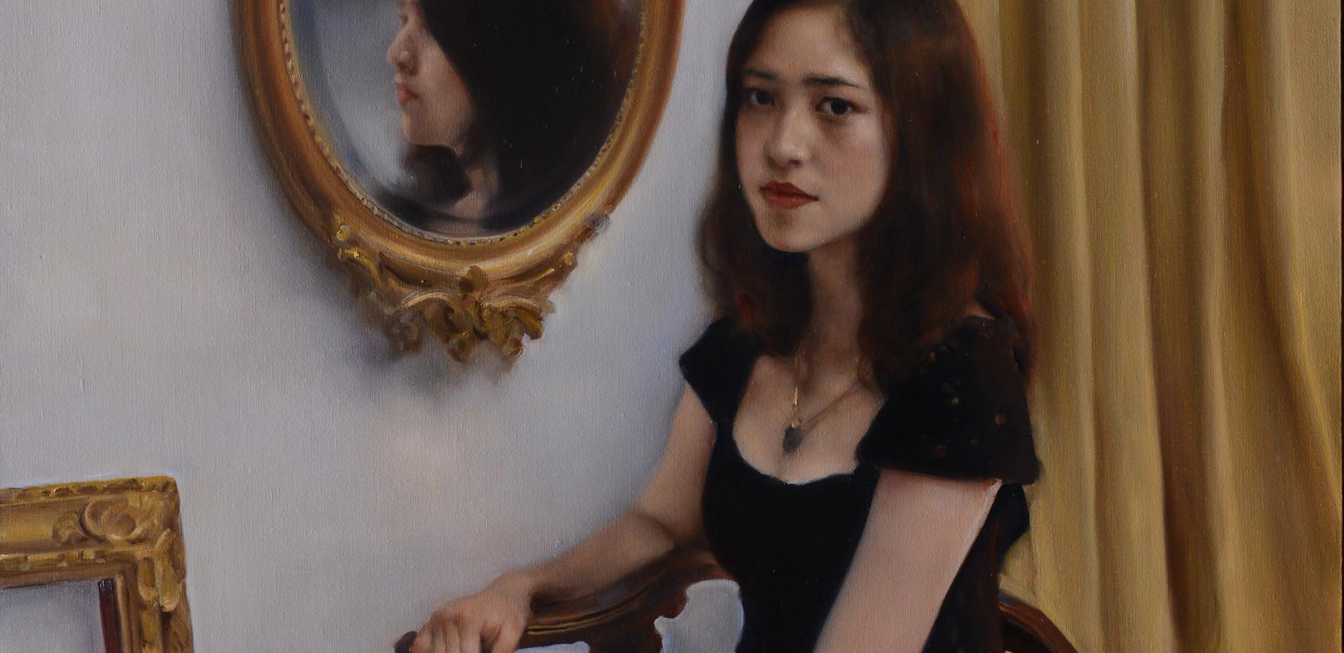 Ragazza di fronte allo specchio