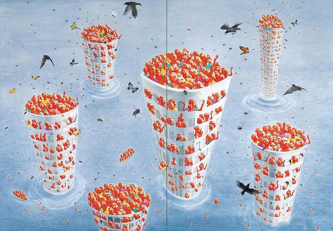 2008.6.15 is the work of Fang Lijun, 2008.6.15 was created on 2008. Fang Lijun is an artist recommended by ZAI | Zhong Art International, pay attention to Zhong Art International, and get the latest developments of Fang Lijun.