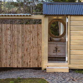 Bathroom and outdoor shower - Toetoe Retreat