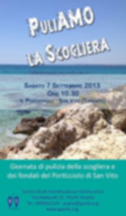 Locandina PuliaAMO la Scogliera taranto_