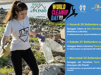 """Il Progetto """"Sulle Orme di Plinio"""" scende in campo per il World Cleanup Day"""