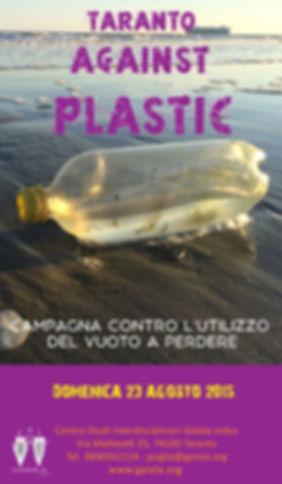 Locandina Taranto Against Plastic_2015_L
